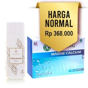Harga paket kecantikan glanz edelweiss vitayang marine calsium kk indonesia   glanz   HARGALOKA.COM