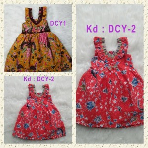 Harga batik bayi perempuan dress baju katun bagus kombinasi cantik usia 0 2   dcy1 usia | HARGALOKA.COM