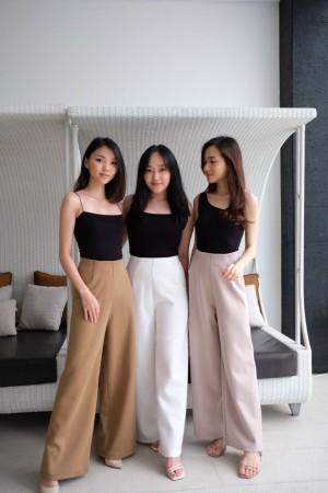 Harga cullote wanita premium super comfy amp stretch best seller  hist culotte   brown | HARGALOKA.COM