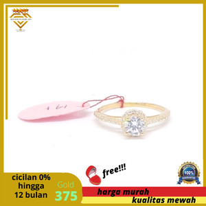Harga cincin emas kuning asli 375 model mewah berkualitas   HARGALOKA.COM