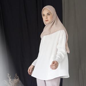 Harga aska label   offwhite basic top   all | HARGALOKA.COM