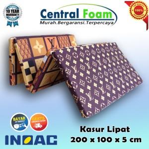 Harga kasur lipat busa inoac 200 x 100 x 5 cm central foam | HARGALOKA.COM