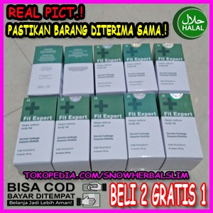 Harga obat diet pelangsing herbal fit expert asli bpom 2 gratis | HARGALOKA.COM