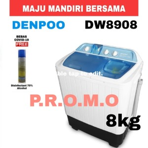 Harga mesin cuci denpoo dw 8908 4p 8kg 2 | HARGALOKA.COM