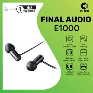 Harga final audio e1000 e 1000 hi res in ear earphone   | HARGALOKA.COM