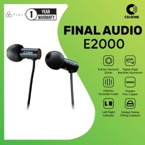 Harga final audio e2000 e 2000 hi res in ear earphone   | HARGALOKA.COM
