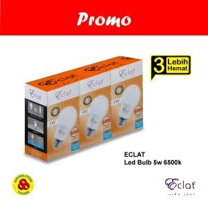 Harga eclat lampu led 5w putih paket promo lebih hemat isi 3 bulb 5 watt | HARGALOKA.COM