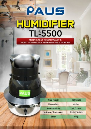 Harga mesin kabut mesin embun humidifier rumah walet paus tl 5500 | HARGALOKA.COM