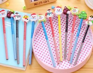 Harga pensil motif natal alat tulis pensil pensil edisi x 39 mas lucu | HARGALOKA.COM
