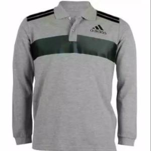 Harga polo shirt tshirt kaos kerah lengan panjang adidas | HARGALOKA.COM