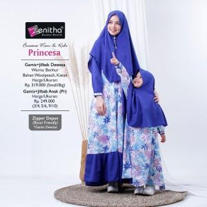 Harga princesa busana couple mom and kids baju gamis ibu dan anak by zenitha   girl benhur   HARGALOKA.COM