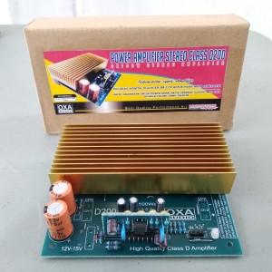 Harga kit power amplifier stereo clas d 200w oxa   HARGALOKA.COM