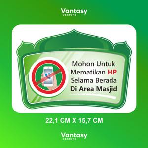 Harga stiker vynil matikan hp saat di   HARGALOKA.COM