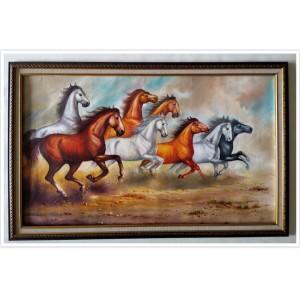 Harga lukisan kuda komplit bingkai 60 x 100 | HARGALOKA.COM