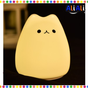 Harga little cat lampu tidur lucu led rgb light model cute cat   | HARGALOKA.COM
