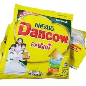 Harga susu dancow sachet 27gr dancow fortigo instant putih dan coklat murah     HARGALOKA.COM