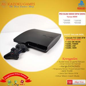 Harga ps3 ps 3 slim sony playstation ofw seri 3000 160gb   500gb 1stick om   hitam   HARGALOKA.COM