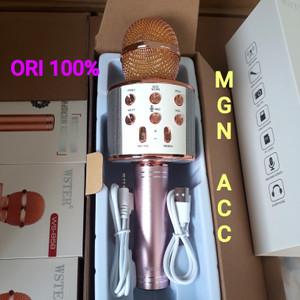 Harga mic karaoke original wster ws 858 wireles   HARGALOKA.COM