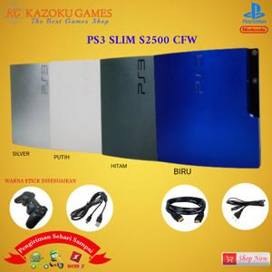 Harga ps3 ps 3 slim sony playstation seri 2500 cfw 120gb   500gb 1stik op   hitam   HARGALOKA.COM