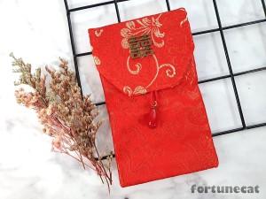 Harga angpao imlek sangjit lamaran kawinan kain premium gantungan merah   bunga | HARGALOKA.COM