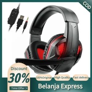 Harga gamer headset for computer ps4 gaming headphones adjustable | HARGALOKA.COM
