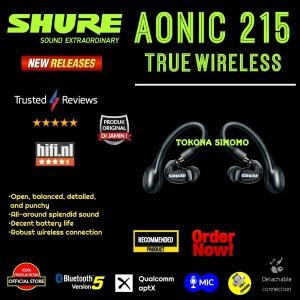 Harga shure aonic 215 aonic215 true wireless sound isolating earphones   | HARGALOKA.COM