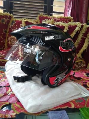 Harga helm helmet helm double visor marquez repsol 93 merah promo   hitam | HARGALOKA.COM