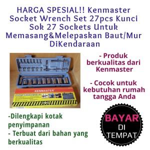 Harga kunci shock sok set kenmaster kunci sok 27 sockets kunci shock sok | HARGALOKA.COM