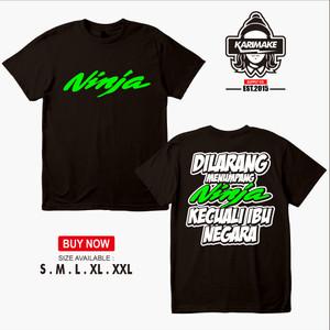 Harga kaos baju racing kawasaki ninja dilarang menumpang   | HARGALOKA.COM