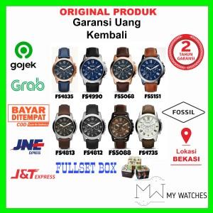 Harga jam tangan pria fossil grant chronograph original leather strap | HARGALOKA.COM