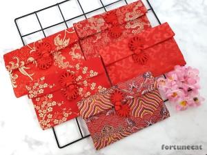 Harga angpao imlek sangjit kain premium merah kancing bunga   | HARGALOKA.COM