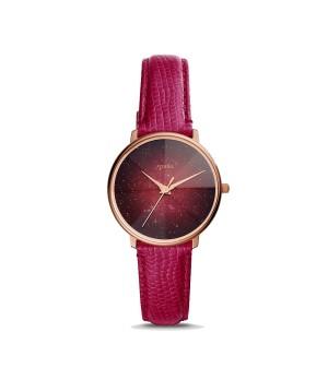 Harga jam tangan wanita fossil prismatic galaxy red leather strap | HARGALOKA.COM