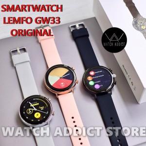 Harga smartwatch lemfo gw33 original waterproof ip68 like samsung active   | HARGALOKA.COM