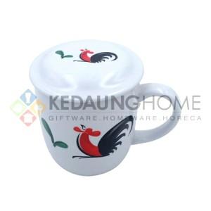 Harga cangkir tutup ayam jago kopin mug tutup porselen kukuruyuk | HARGALOKA.COM