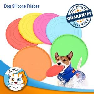 Harga dog toy silicone frisbee   mainan lempar tangkap anjing | HARGALOKA.COM