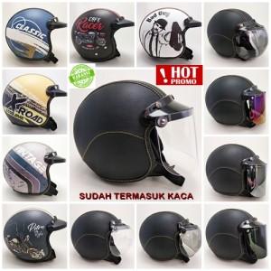Harga helm bogo dewasa retro kulit helm premium bergaransi koleksi | HARGALOKA.COM