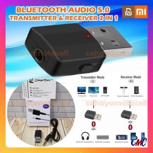 Harga bluetooth transmitter receiver 5 0 wireless 2 in 1 audio portable | HARGALOKA.COM