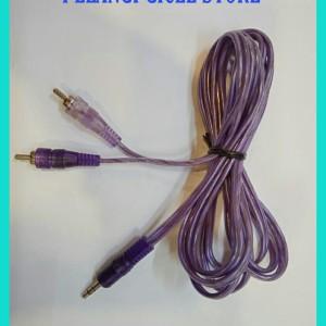 Harga kabel jack aux 1 in 2 kabel speaker laptop amp panjang 2 5 meter | HARGALOKA.COM