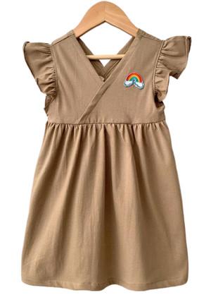 Harga dress anak bayi v pelangi coklat size 1 5   size | HARGALOKA.COM