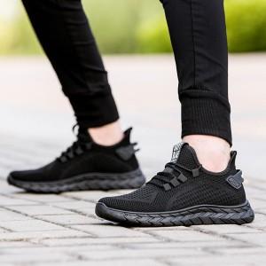 Harga sepatu import sneakers pria eazy v 4 amp include box bonus kaos kaki   hitam | HARGALOKA.COM