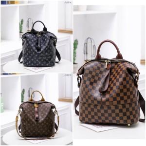 Harga yf 2907 lv backpack fashion bag termasuk | HARGALOKA.COM