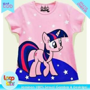 Harga baju anak kaos anak perempuan logokids ponny twilight 1 10 tahun   1 | HARGALOKA.COM