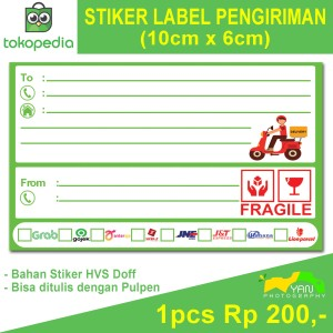 Harga stiker label pengiriman online shop murah   | HARGALOKA.COM