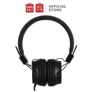Harga miniso headset earphone headphone dilipat portable simple original   hitam | HARGALOKA.COM
