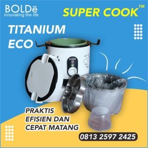 Harga bolde super cook titanium eco rice cooker er mini magic jar | HARGALOKA.COM
