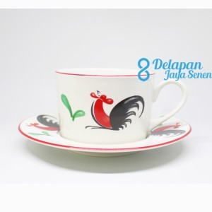 Harga cangkir kopi teh ayam jago isi 6pcs cangkir kopi kukuruyuk tipe | HARGALOKA.COM