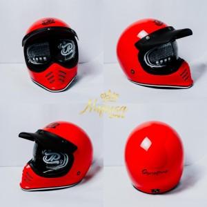 Harga helm cakil jp signature full face helm vespa cakil vintage     HARGALOKA.COM