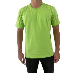 Harga kaos polos pria cotton carded regular fit kaos oblong hijau | HARGALOKA.COM