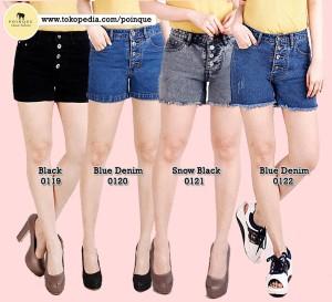 Harga hotpants hotpants highwaist hotpants jeans denim wanita celana   blue denim 0122 | HARGALOKA.COM