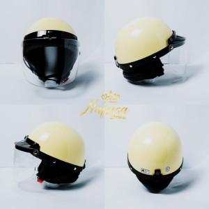Harga helm chips helm vespa helm vintage helm retro classic kaca   HARGALOKA.COM